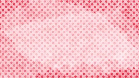 薄い赤 水玉水彩背景 ループ CG動画