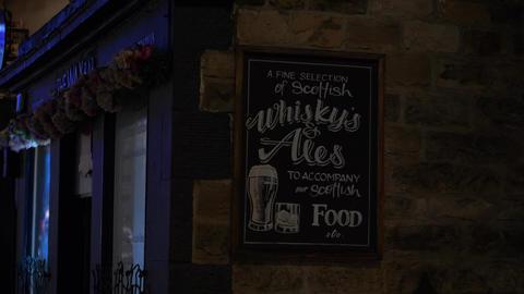 Scottish Whisky's and Ales at a pub in Edinburgh - EDINBURGH, SCOTLAND - JANUARY Live Action