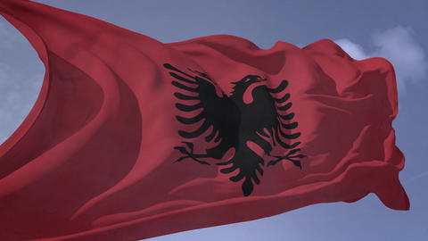 Albania Flag with alpha (HD) Animation