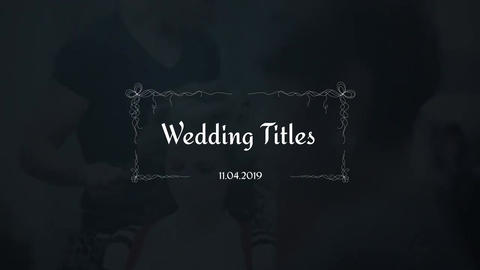Wedding Titles After Effectsテンプレート