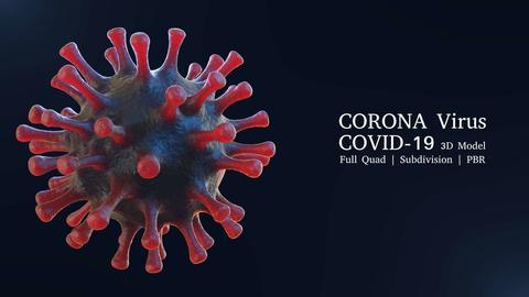 Coronavirus Covid-19 Virus 3D model 3Dモデル