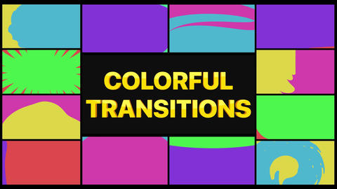 Colorful Transition Pack Motion Graphics Template