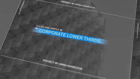 Lower Thirds Clean & Simple Motion Graphics Template
