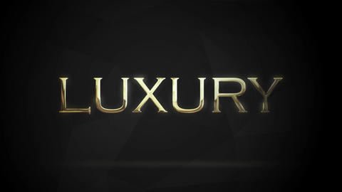 Gold Text Opener Motion Graphics Template