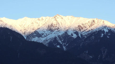 Mountains in the snow. Day. Mountain landscape. India, Tibet, Himalayas Live Action