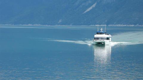 Ferry Skagway Alaska blue ocean P HD 0069 Footage
