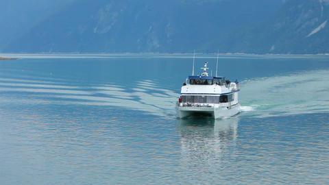 Ferry Skagway blue ocean P HD 0070 Footage