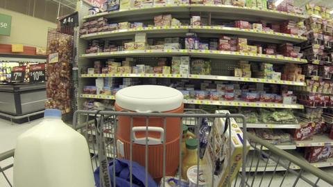 Food shopping jello shelf store POV HD 001 Footage