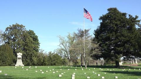 Fredericksburg Virginia Battlefield cemetery unknown soldiers 4K Footage