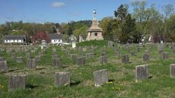 Fredericksburg Virginia Confederate cemetery graves monument 4K 008 Footage