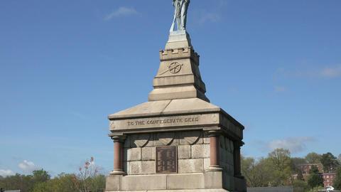 Fredericksburg Virginia Confederate dead memorial cemetery graves 4K 012 Footage