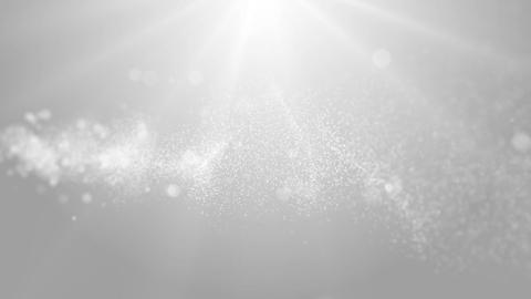 Particles white bright glitter bokeh dust abstract background loop 08 Animation