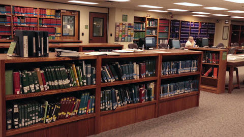 Genealogy research Library books Mormon LDS headquarters HD 8731 Footage