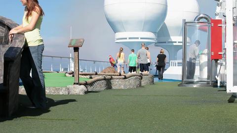 Gulf course cruise ship P HD 4247 Footage