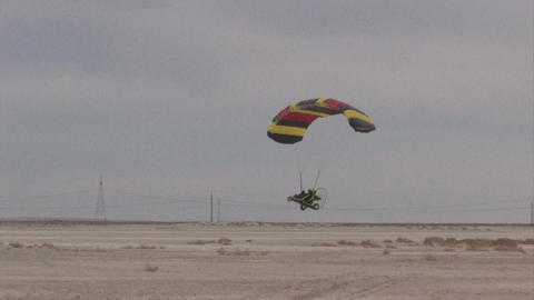Hard landing Powered Parachute M HD Footage