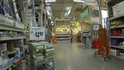 Hardware store shoppers products lighting HD 012 Footage