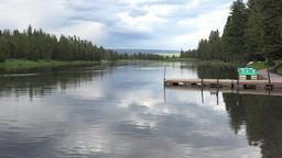 Henry Fork River boat dock Island Park Idaho 4K Footage