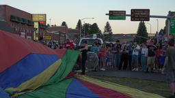 Hot Air Balloon rally Panguitch city street 4K 176 Footage