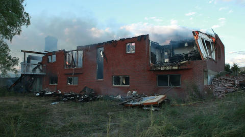 House burned from back residential property P HD 0751 Footage