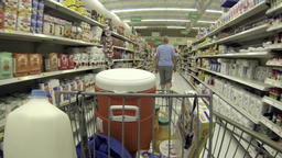 Housewife shopping for groceries store POV HD 001 Footage