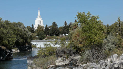 Idaho Falls LDS Temple river P HD 2281 Live Action