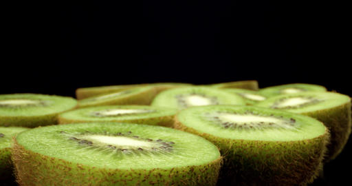 Juicy fresh kiwi fruit 4k super macro close up high…, Live Action