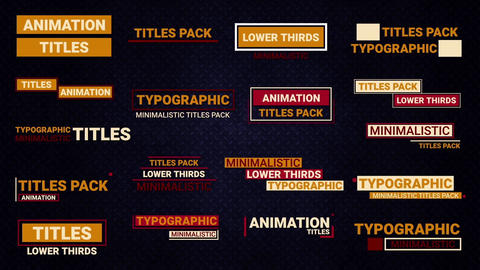 Lower Thirds Social Motion Graphics Template