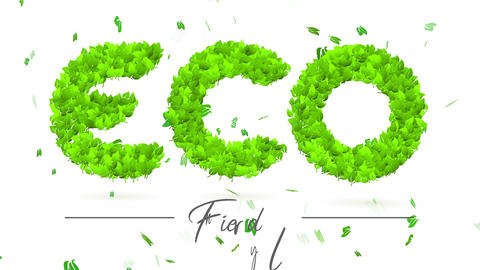 reforestation eco kind campaign advertising with green earth creating font to raise awareness on Animation