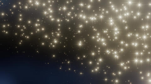 Glittering Star Particles Animation