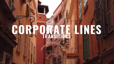 Corporate Lines Transitions Premiere Proテンプレート