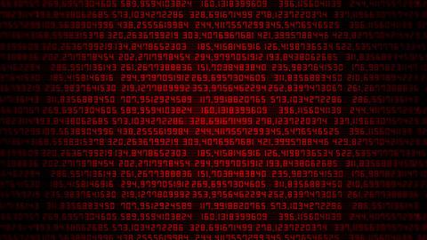 Red Random Numbers Screen VJ Loop Background CG動画