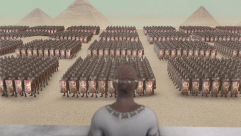 Mark Antony Standing in Front a Roman Legion in Egypt Live Action
