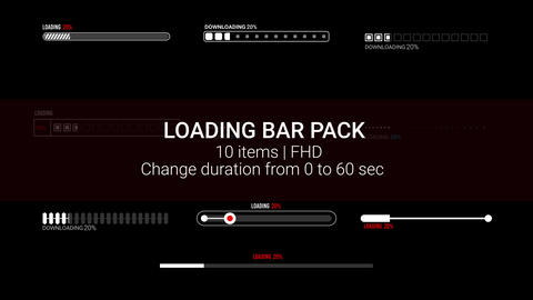 Loading Bar Pack After Effects Template