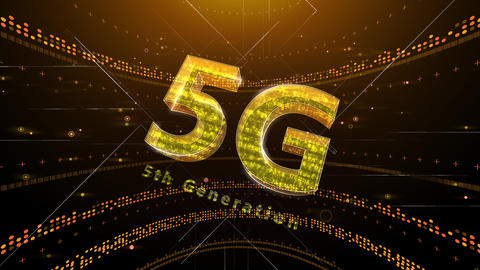 5G Digital Network technology 5th generation mobile communication concept background 2 N1 red 4k Animation