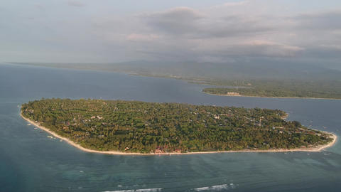 take off over gili air island in sunny weather Live Action