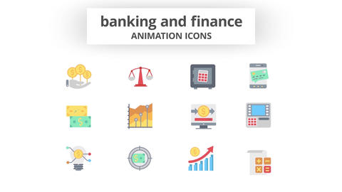 Banking & Finance - Animation Icons 모션 그래픽 템플릿