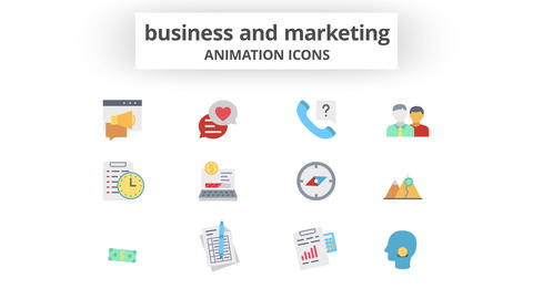 Business & Marketing - Animation Icons 모션 그래픽 템플릿