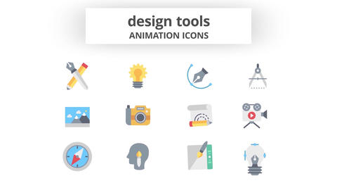 Design Tools - Animation Icons Motion Graphics Template