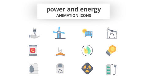 Power & Energy - Animation Icons 모션 그래픽 템플릿