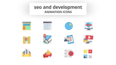 SEO & Development - Animation Icons Motion Graphics Template
