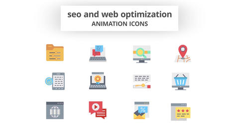 SEO & Web Optimization - Animation Icons 모션 그래픽 템플릿