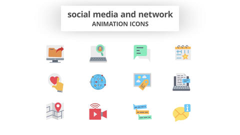 Social Media & Network - Animation Icons 모션 그래픽 템플릿