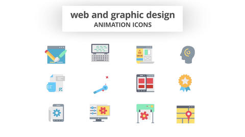 WEB & Graphic Design - Animation Icons Motion Graphics Template