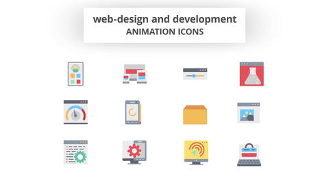 Web-Design & Development - Animation Icons 모션 그래픽 템플릿