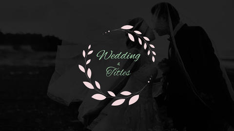 Elegant Weddng Titles Premiere Pro Template