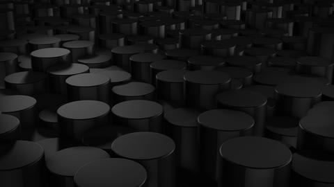 Abstract cylindrical geometric black surfaces in virtual space Animation