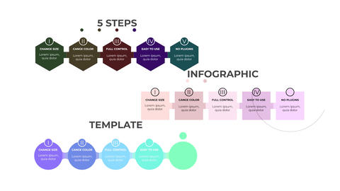 Infographic-5 Steps-Business-Idea Motion Graphics Template