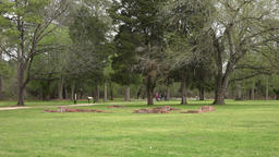 Jamestown Virgina historic colonial town ruins park tourists 4K Footage