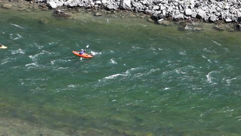 Kayaks on Snake River P HD 3450 Footage