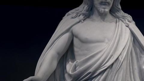 Jesus Christ Christus statue LDS Mormon Temple 4K 004 Footage